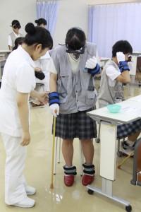 2018.08.25第3回学校見学会 高齢者体験(83)